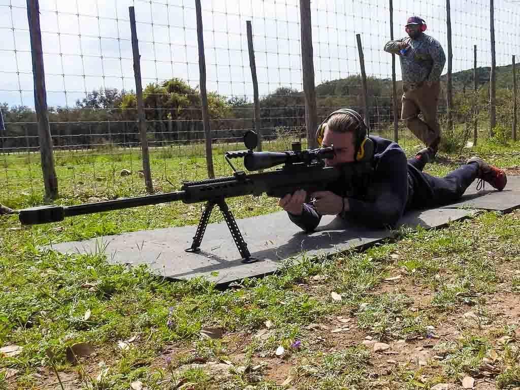 50 cal shooting machine gun shooting ox ranch