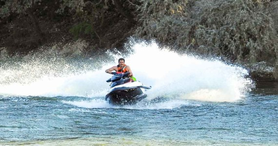 Jet skiing fun