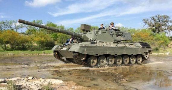 Leopard Tank Driving