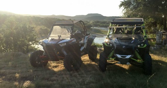 razor and canam offroading