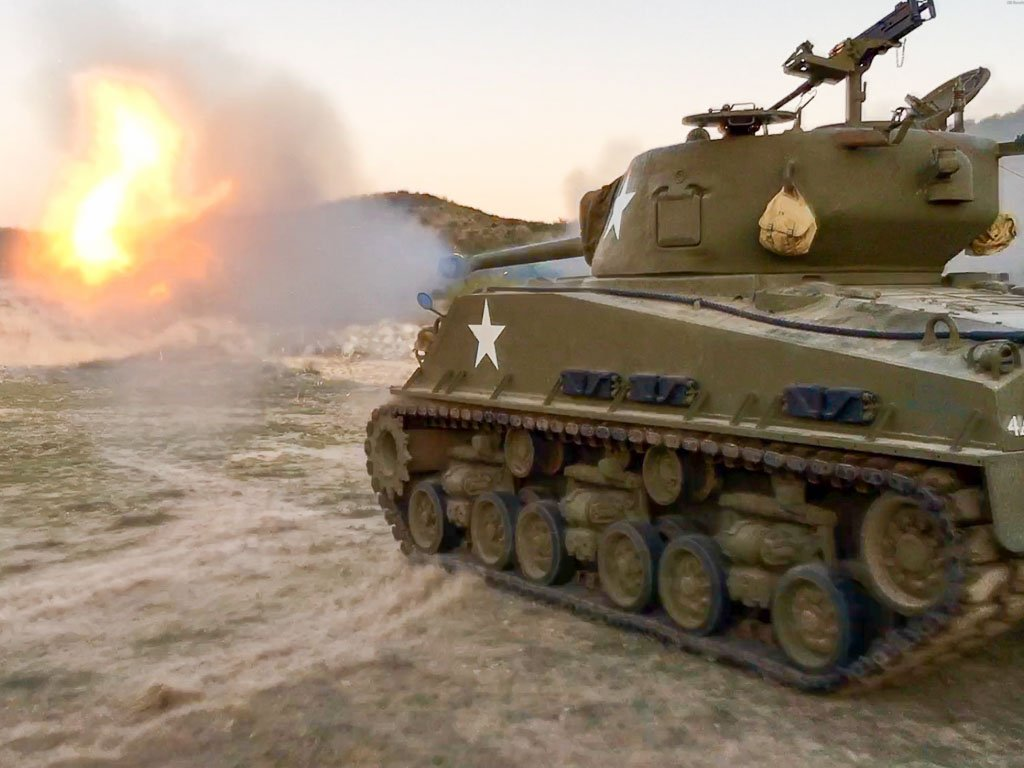 Sherman Tank Firing