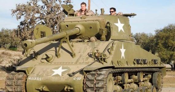 tank driving sherman
