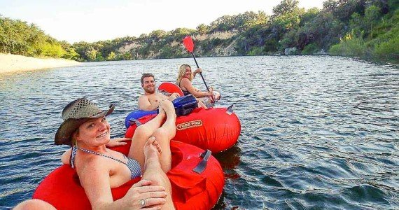 tubing in texas river