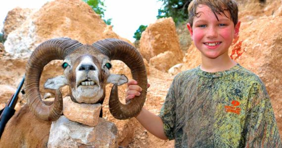 father son mouflon sheep hunting